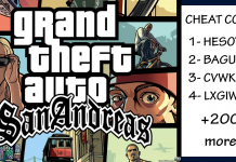 200+ GTA SAN ANDREAS cheats
